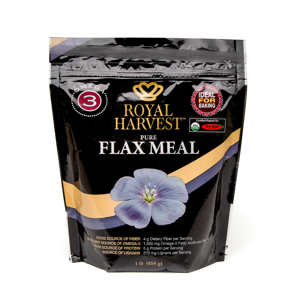 Organic Flax Meal (case 4 pc, 454g ea)