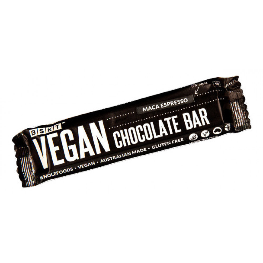 1 Case Vegan Chocolate Bar Maca Espresso 45g