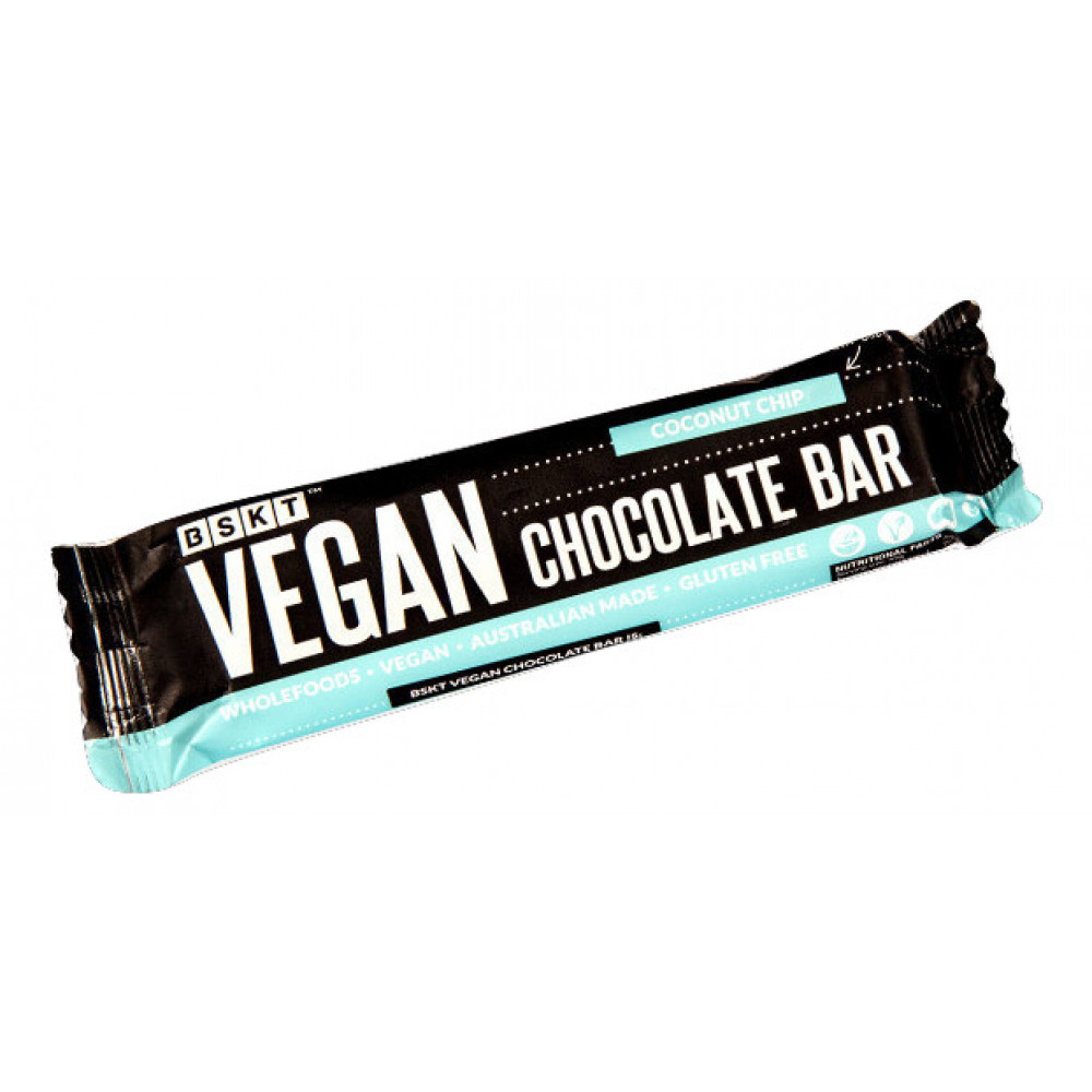 1 Case Vegan Chocolate Bar Coconut Chip 45g