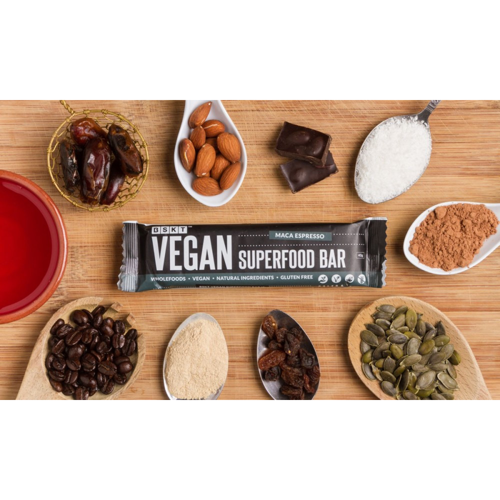 1 Case Vegan Superfood Bar Maca Espresso 45g Bar