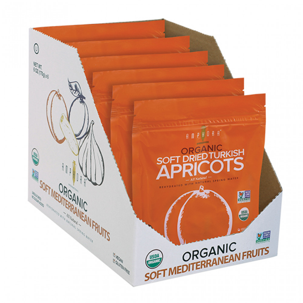 Amphora Organic Soft Dried Apricots (6pc/case)