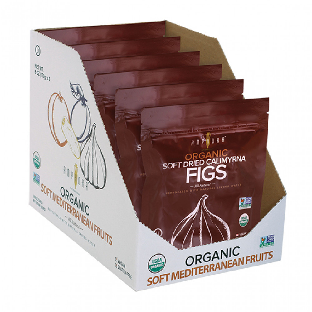 Amphora Organic Soft Dried Figs (6pc/case)