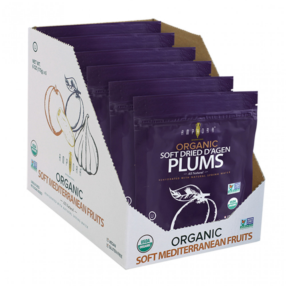 Amphora Organic Soft Dried Plums (6pc/case)